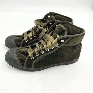 Free People Bensimon MidTop Velvet Sneaker